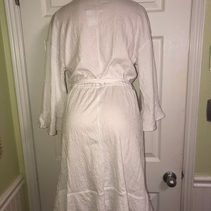 GAP Dresses - GAP - WHITE GAUZE WRAP DRESS w/TIE - NWT - S/Tall